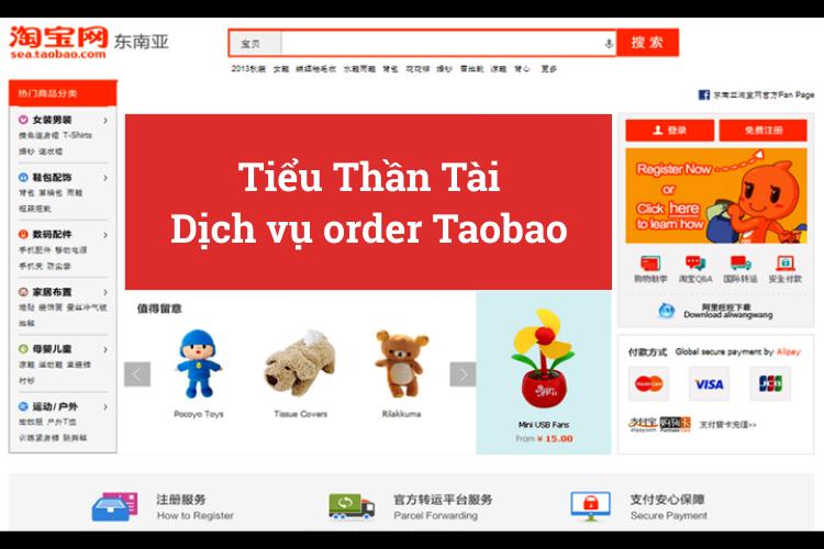 Dịch vụ order Taobao - Tiểu Thần Tài