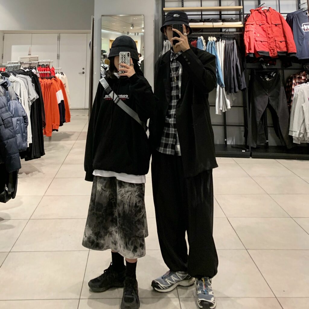 Đồ đôi oversize hiphop freestyle