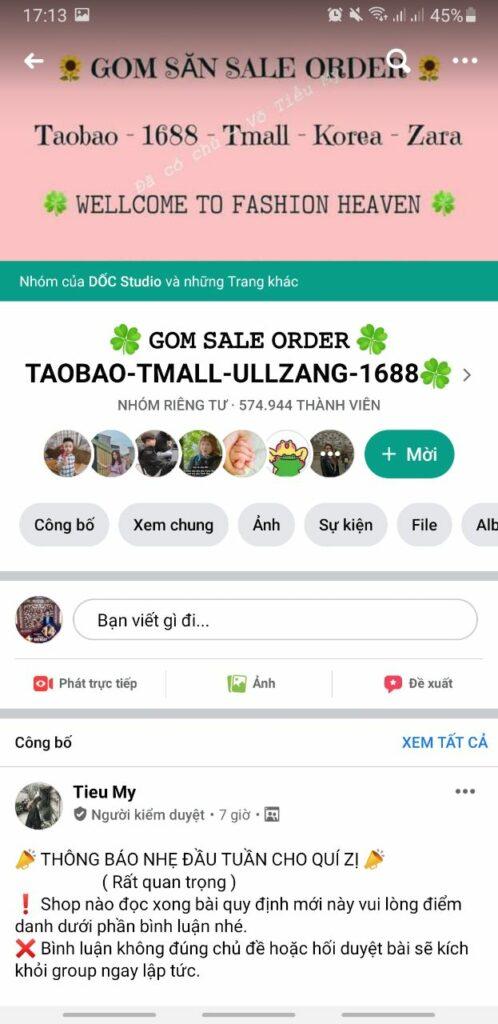 Săn sale, gom order taobao